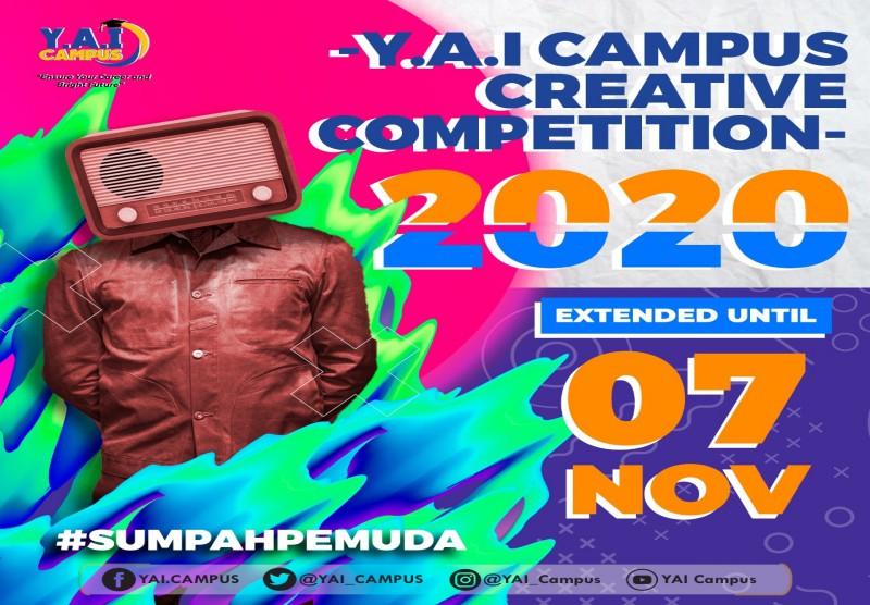 Y.A.I Campus Creative Competition 2020 (Pendaftaran Diperpanjang s/d 7 November 2020)